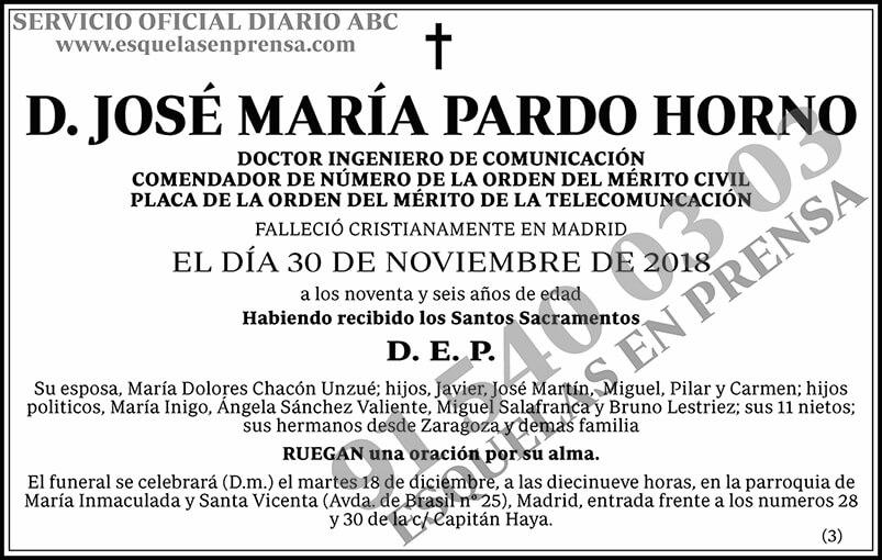 José María Pardo Horno